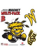 Wichita State Shockers 12x12 Multi Pack Car Magnet - Yellow