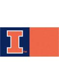 Illinois Fighting Illini 18x18 Team Tiles Interior Rug