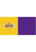 Los Angeles Lakers 18x18 Team Tiles Interior Rug