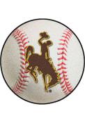 Wyoming Cowboys 27` Baseball Interior Rug