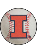 Illinois Fighting Illini 27` Baseball Interior Rug