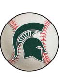 Michigan State Spartans 27` Baseball Interior Rug