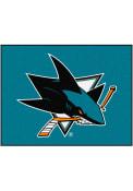 San Jose Sharks 34x45 All-Star Interior Rug
