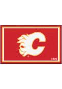 Calgary Flames 4x6 Interior Rug