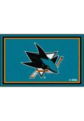 San Jose Sharks 4x6 Interior Rug
