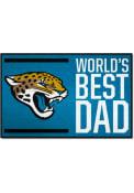 Jacksonville Jaguars Worlds Best Dad 19x30 Starter Interior Rug