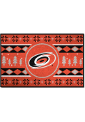Carolina Hurricanes 19x30 Holiday Sweater Starter Interior Rug