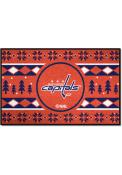 Washington Capitals 19x30 Holiday Sweater Starter Interior Rug