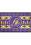 Los Angeles Lakers 19x30 Holiday Sweater Starter Interior Rug