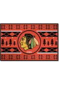 Chicago Blackhawks 19x30 Holiday Sweater Starter Interior Rug