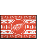 Detroit Red Wings 19x30 Holiday Sweater Starter Interior Rug