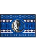 Dallas Mavericks 19x30 Holiday Sweater Starter Interior Rug