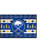 Buffalo Sabres 19x30 Holiday Sweater Starter Interior Rug