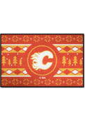 Calgary Flames 19x30 Holiday Sweater Starter Interior Rug