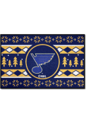 St Louis Blues 19x30 Holiday Sweater Starter Interior Rug