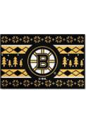 Boston Bruins 19x30 Holiday Sweater Starter Interior Rug