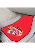 Sports Licensing Solutions Kansas City Chiefs Super Bowl LIV Champions 2-PC Carpet Car Mat - Red
