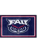 Florida Atlantic Owls 4x6 Plush Interior Rug