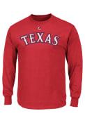 Majestic Texas Rangers Red Rally Loud Tee