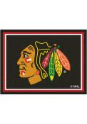 Chicago Blackhawks 8x10 Plush Interior Rug