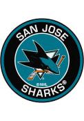 San Jose Sharks 27 Roundel Interior Rug