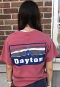 Dayton Flyers Womens Comfort Colors T-Shirt - Crimson