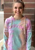 Cleveland Womens Rainbow Tie Dye Long Sleeve Light Weight Hood