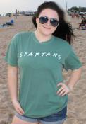 Michigan State Spartans Womens Wordmark Dots T-Shirt - Green