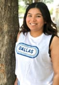 Dallas Women's White Ombre Oval Cropped Tank Top