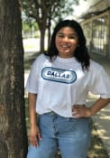 Dallas Women's White Ombre Oval Short Sleeve T-Shirt