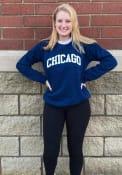 Chicago Women's True Navy Wordmark Unisex Crew Sweatshirt
