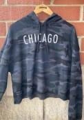 Chicago Womens Wordmark Hooded Sweatshirt - Black