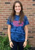 Dayton Flyers Womens Quinn Tie Dye T-Shirt - Navy Blue