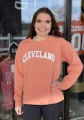 Cleveland Women's Terracotta Wordmark Unisex Long Sleeve Crew Sweatshirt