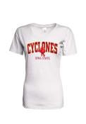 Iowa State Cyclones Womens White Basic T-Shirt