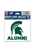 Michigan State Spartans 3x4 Alumni Auto Decal - Green