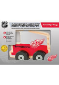 Detroit Red Wings Push Pull Wooden Car