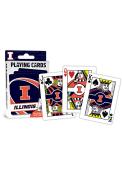Illinois Fighting Illini Team Playing Cards