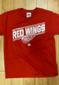 Majestic Detroit Red Wings Youth Red Home Ice Advantage T-Shirt