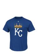 Majestic Kansas City Royals Blue Spring Training Cap Logo Tee