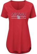 Majestic St Louis Cardinals Womens Tough Decision Red Scoop T-Shirt