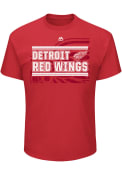 Majestic Detroit Red Wings Red Strong Finish Tee