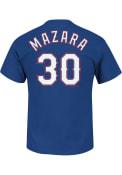 Nomar Mazara Texas Rangers Blue Name and Number Player Tee