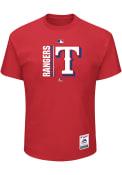 Majestic Texas Rangers Red Team Icon Tee