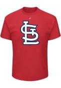 Majestic St Louis Cardinals Red Oversized Cap Logo Tee