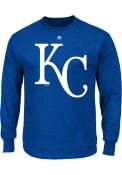 Majestic Kansas City Royals Blue Oversized Cap Logo Tee