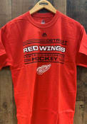Majestic Detroit Red Wings Red Forecheck Tee