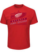 Majestic Detroit Red Wings Red TOE DRAG Tee