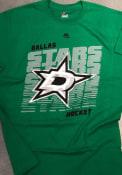 Dallas Stars Majestic Penalty Shot T Shirt - Green