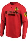 Chicago Blackhawks Majestic Keep Score T Shirt - Red